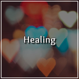 Myriads of faded hearts behind the word Healing. Articles for the topic of Healing in Happy Relationships can be found on this page